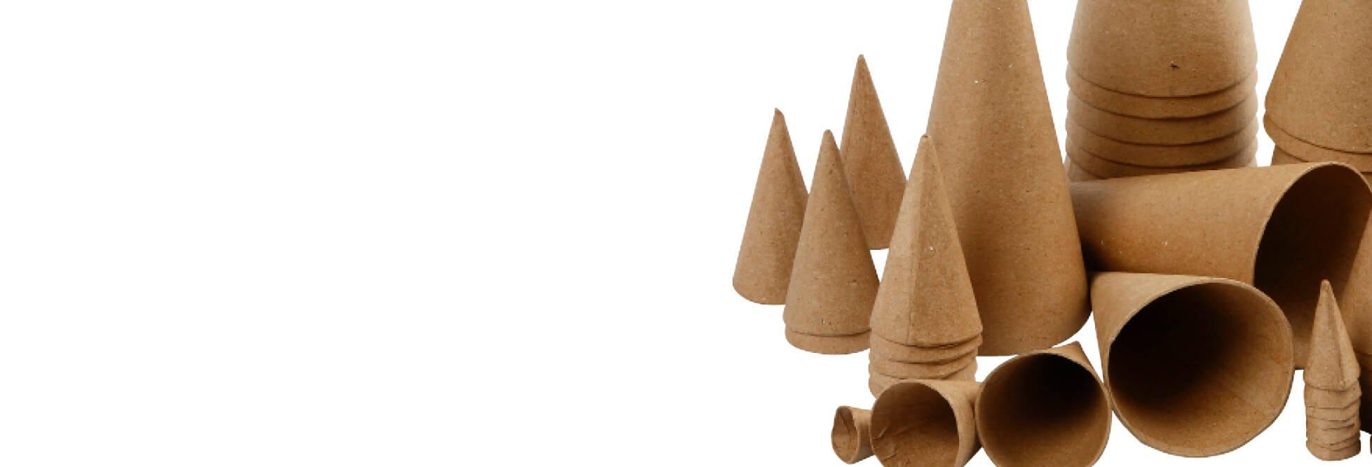 Decorative Christmas cones and cornets