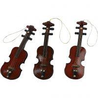 Violins, L: 8 cm, 12 pc/ 1 pack
