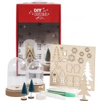Kits for bells with inner decoration, H: 10+12,5 cm, 1 set