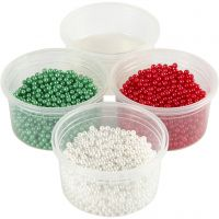 Pearl Clay®, green, red, white, 1 set, 3x25+38 g