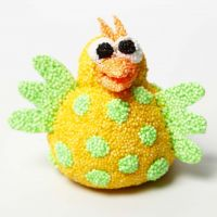 A Foam Clay Chick on a mechanical Movement