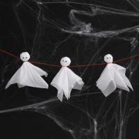 Tissue Paper Ghosts with Googly Eyes